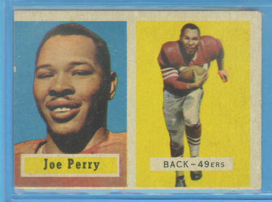 1957 Topps #129 Joe Perry DP front image
