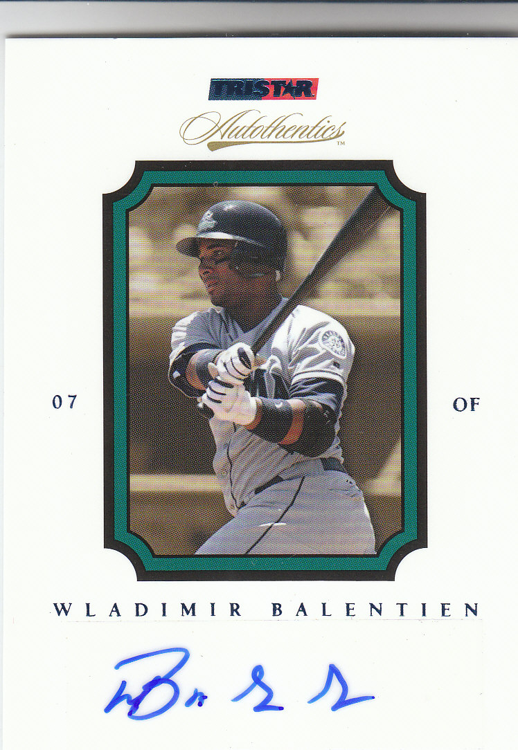 2007 TRISTAR Autothentics Autographs Blue #47 Wladimir Balentien