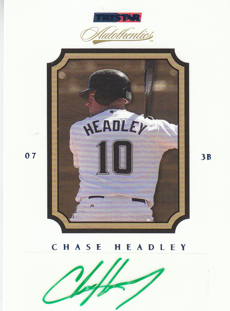 2007 TRISTAR Autothentics Autographs Blue #68 Chase Headley