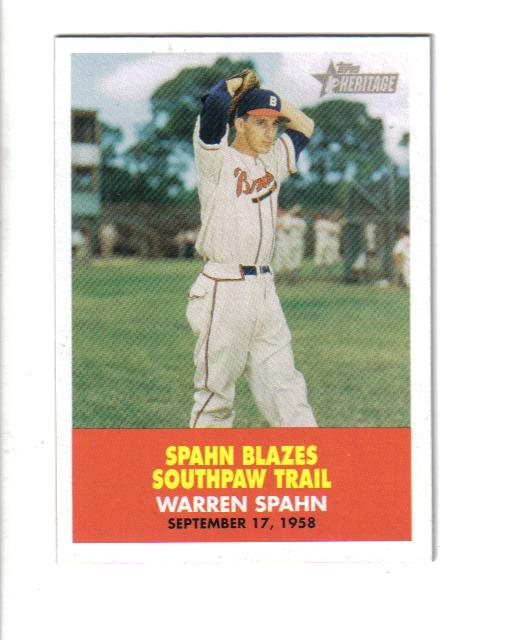 2007 Topps Heritage Flashbacks #FB4 Warren Spahn