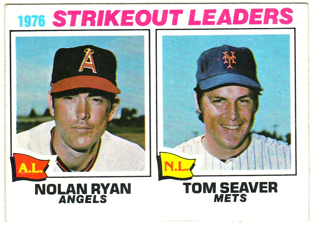 1977 Topps #6 Strikeout Leaders/Nolan Ryan/Tom Seaver