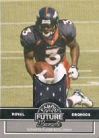 2008 Bowman Fabric of the Future #FFER Eddie Royal B