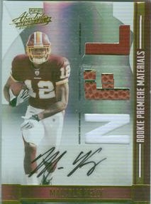 2008 Absolute Memorabilia Rookie Premiere Materials Autographs NFL Spectrum Prime #268 Malcolm Kelly