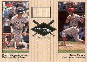 2002 Greats of the Game Dueling Duos Game Used Single #CY2 Tony Perez/Carl Yastrzemski Bat