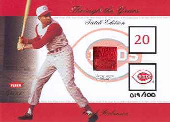 2002 Greats of the Game Through the Years Level 1 Patch #22 Frank Robinson