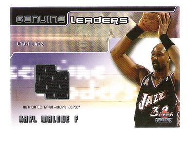 2002-03 Fleer Genuine Leaders Jerseys #6 Karl Malone