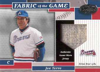 2002 Leaf Certified Fabric of the Game #32DY Joe Torre/60