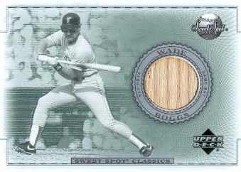 2002 Sweet Spot Classics Game Bat #BWB Wade Boggs DP