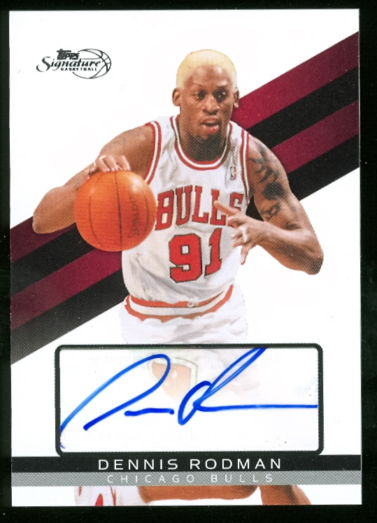 2008-09 Topps Signature Autographs #TSADRD Dennis Rodman/1299