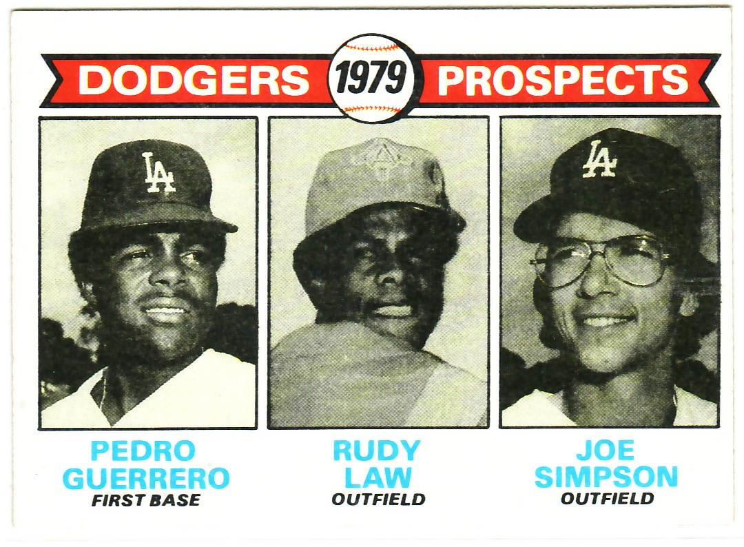 1979 Topps #719 Pedro Guerrero RC/Rudy Law RC/Joe Simpson RC