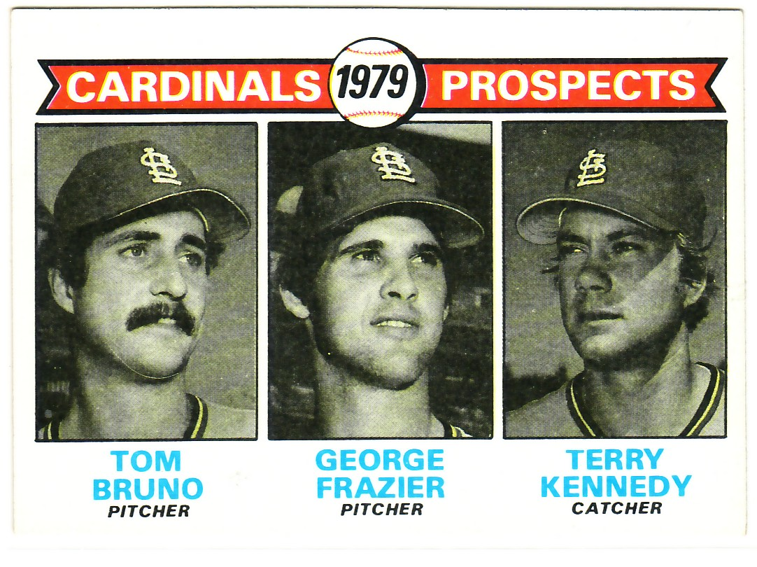 1979 Topps #724 Tom Bruno RC/George Frazier RC/Terry Kennedy RC