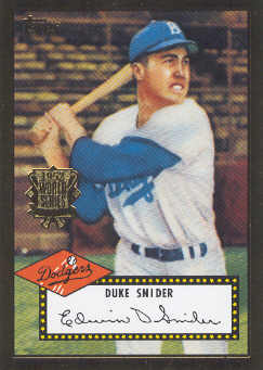 2002 Topps 1952 Reprints #52R2 Duke Snider