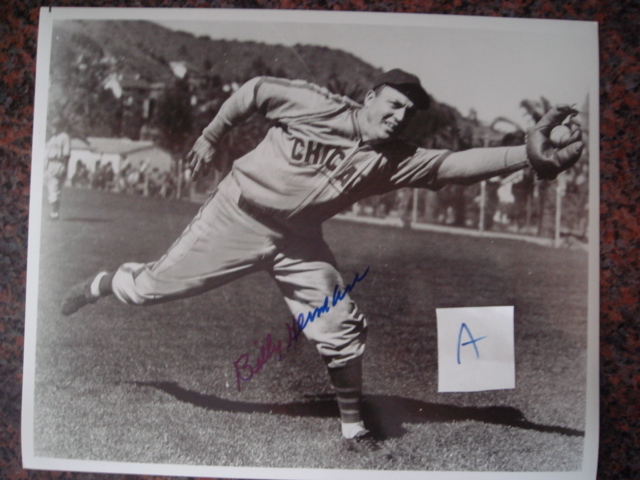 Billy Herman Autographed 8 X 10 Cubs Picture With COA pose A
