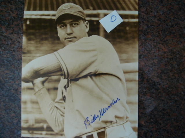 Billy Herman Autographed 8 X 10 Cubs Picture With COA pose D