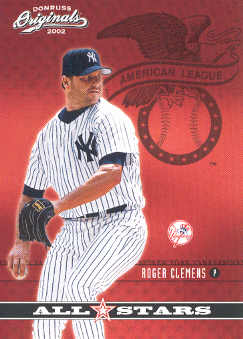 2002 Donruss Originals All-Stars #11 Roger Clemens