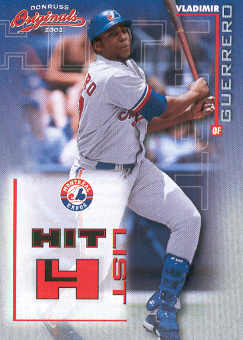 2002 Donruss Originals Hit List #14 Vladimir Guerrero