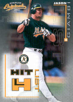 2002 Donruss Originals Hit List #20 Jason Giambi A's