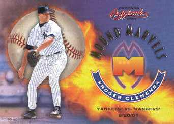 2002 Donruss Originals Mound Marvels #1 Roger Clemens 8/20/01