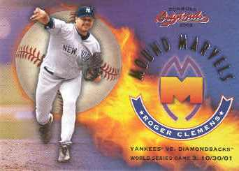 2002 Donruss Originals Mound Marvels #12 Roger Clemens 10/30/01