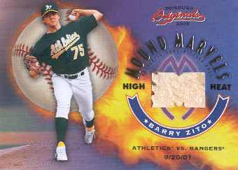2002 Donruss Originals Mound Marvels High Heat #14 Barry Zito