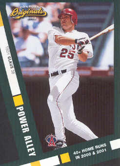 2002 Donruss Originals Power Alley #6 Troy Glaus