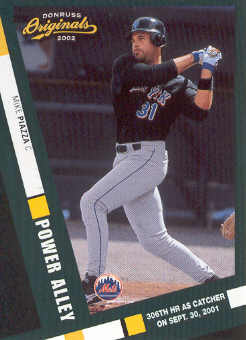 2002 Donruss Originals Power Alley #9 Mike Piazza