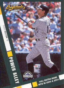 2002 Donruss Originals Power Alley #10 Todd Helton