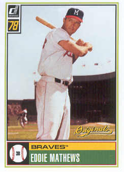 2002 Donruss Originals What If 1978 #18 Eddie Mathews