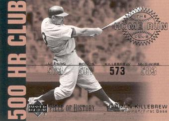 2002 UD Piece of History 500 Home Run Club #HR1 Harmon Killebrew