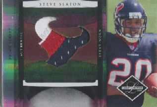 2008 Leaf Limited Rookie Jumbo Jerseys Team Logo Prime #3 Steve Slaton