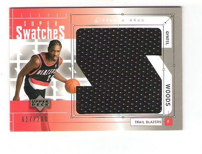 2002-03 Upper Deck Super Swatches Jerseys #QWS Qyntel Woods