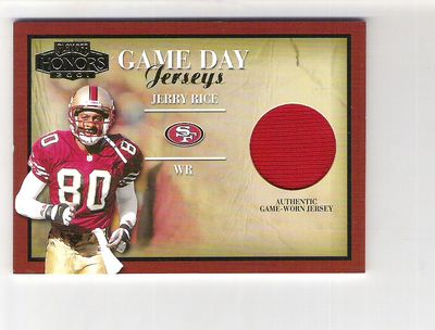 2001 Playoff Honors Game Day Jerseys #GD38 Jerry Rice