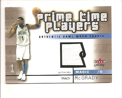 2002-03 Fleer Genuine Prime Time Players Jerseys #3 Tracy McGrady