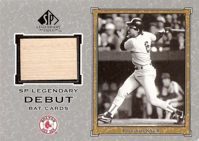 2001 SP Legendary Cuts Debut Game Bat #DBB Bill Buckner *