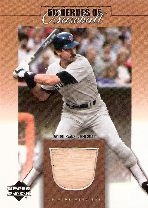 2001 Upper Deck Prospect Premieres Heroes of Baseball Game Bat #BDE Dwight Evans