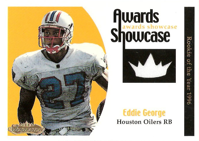 2001 Fleer Showcase Awards Showcase Memorabilia #8 Eddie George