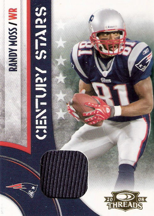 2008 Donruss Threads Century Stars Materials #1 Randy Moss