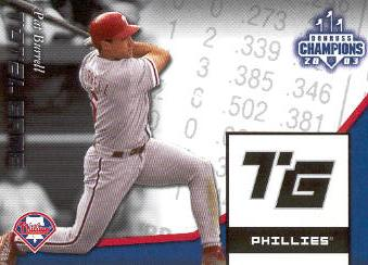 2003 Donruss Champions Total Game #35 Pat Burrell