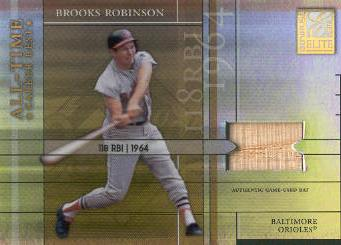 2003 Donruss Elite All-Time Career Best Materials Parallel #18 Brooks Robinson Bat/118