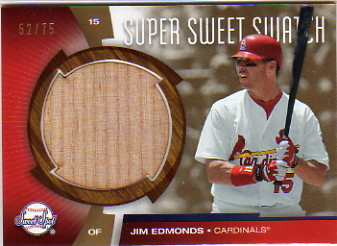 2006 Sweet Spot Super Sweet Swatch Gold #ED Jim Edmonds Bat