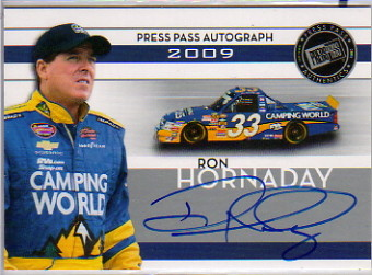 2009 Press Pass Autographs Silver #23 Ron Hornaday
