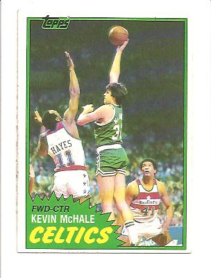 1981-82 Topps #E75 Kevin McHale RC