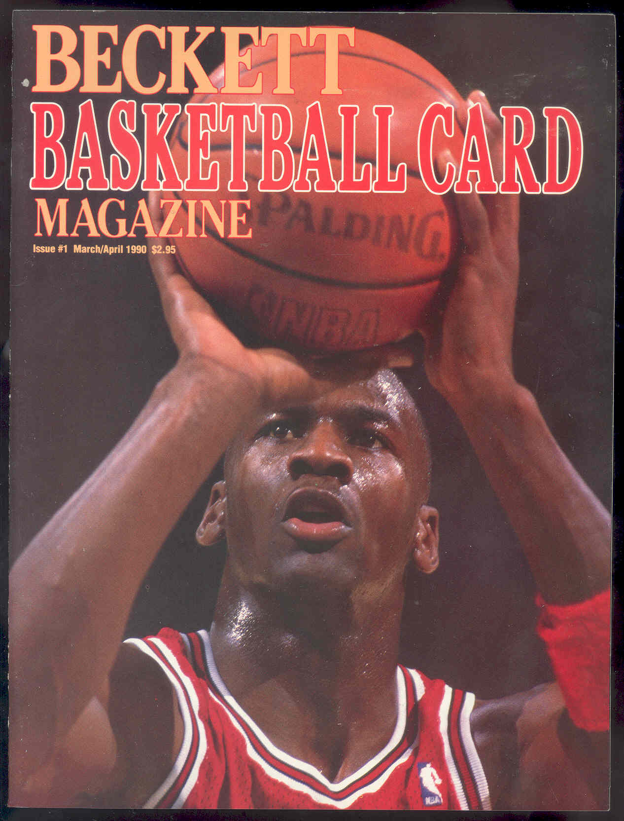 1990 Beckett Basketball Card Price Guide #1 Michael Jordan Cover Rookie Issue