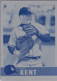 2006 Fleer Tradition Printing Plates Cyan #66 Jeff Kent
