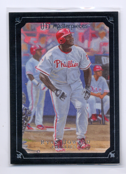 2007 UD Masterpieces Black Linen #12 Ryan Howard