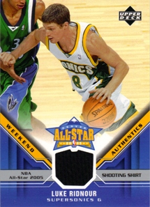 2005-06 Upper Deck All-Star Weekend Authentics #LR Luke Ridnour