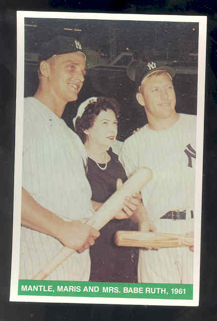 1984 TCMA Greats #26 Mickey Mantle/Roger Maris/Mrs. Claire Ruth