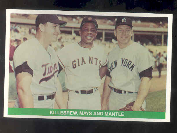 1984 TCMA Greats #27 Harmon Killebrew/Willie Mays/Mickey Mantle