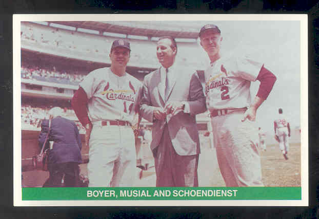 1984 TCMA Greats #31 Ken Boyer/Stan Musial/Red Schoendienst