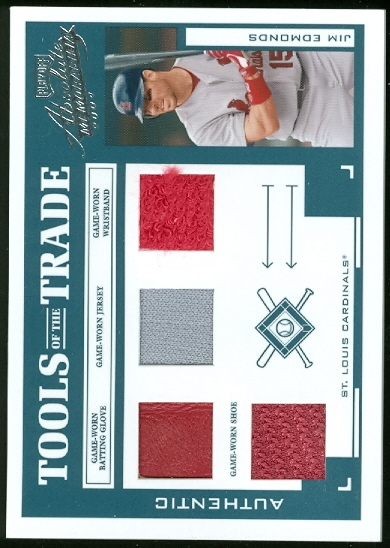 2004 Absolute Memorabilia Tools of the Trade Material Quad #69 Jim Edmonds/50